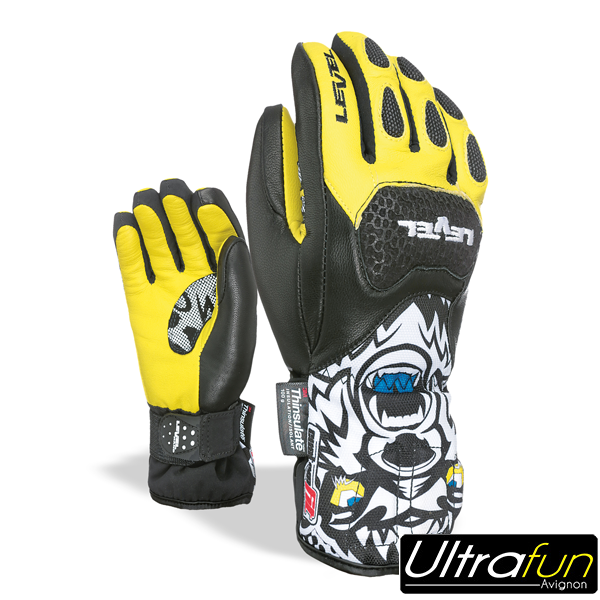 GANTS LEVEL JUNIOR SQ CF JAUNE
