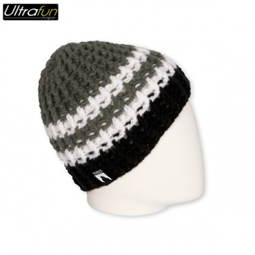 BEANIE SHRED STRIPES BLACK