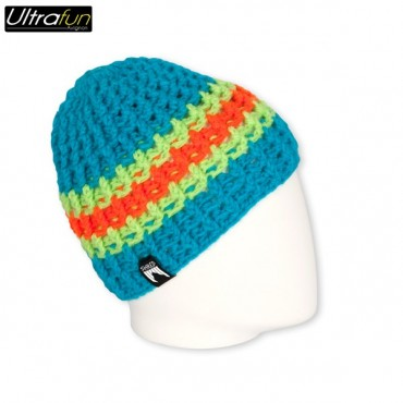 BEANIE SHRED STRIPES BLUE