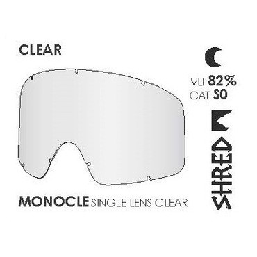 SHRED ECRAN MONOCLE SIMPLE TRANSPARENT