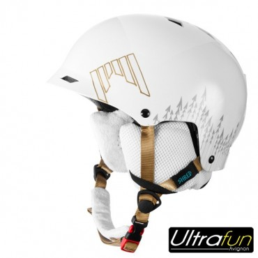 CASQUE SHRED HALF BRAIN WHITE OUT