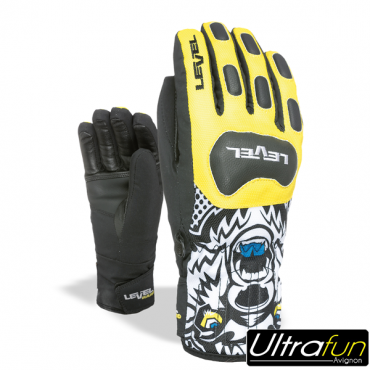 GANTS LEVEL JUNIOR RACE JAUNE