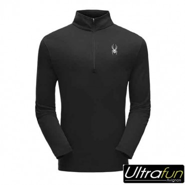 SWEAT POLAIRE SPYDER ACE ZIP T-NECK NOIR