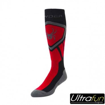 SPYDER DARE SOCKS ROUGE