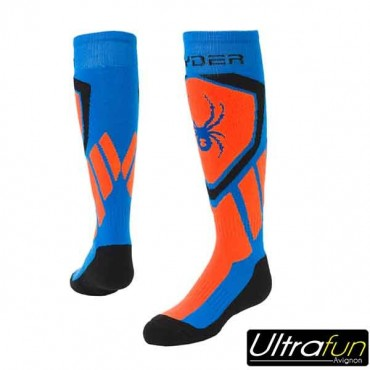 SPYDER JUNIOR DARE SOCKS BLUE/ORANGE