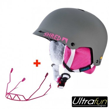 SHRED CASQUE HALF BRAIN BUNNY + BARRE SLALOM