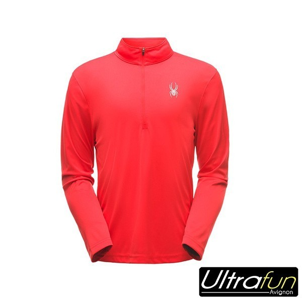 SWEAT POLAIRE SPYDER ACE ZIP T-NECK ROUGE