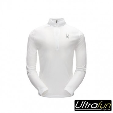 SWEAT POLAIRE SPYDER LIMITLESS SOLID ZIP T-NECK BLANC