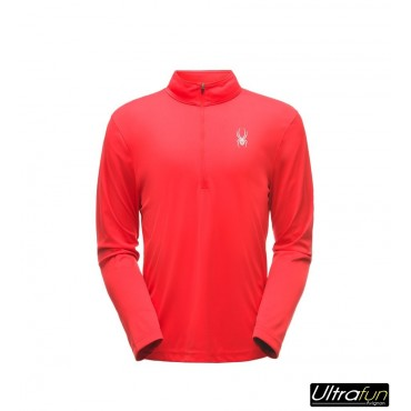 SWEAT POLAIRE SPYDER LIMITLESS SOLID ZIP T-NECK ROUGE