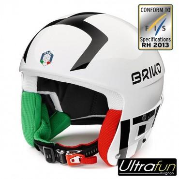 BRIKO CASQUE JUNIOR VULCANO 6.8 ITALIE BLANC FIS