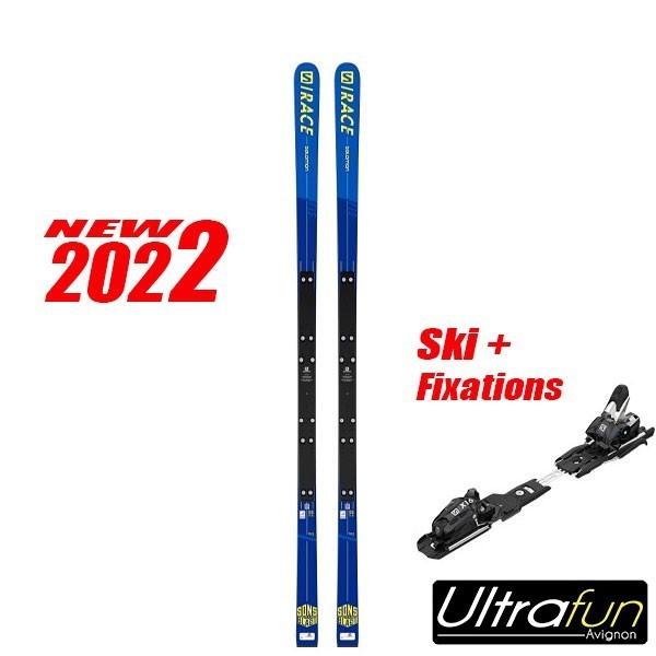 SALOMON S/RACE SG FIS MINIMES + FIXATION 2021