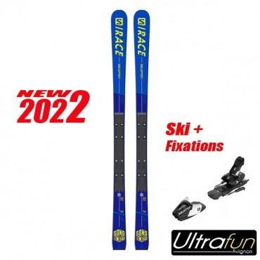 SALOMON S/RACE PRO GS JR + FIXATION 2020