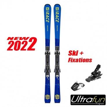 SALOMON S/RACE PRO SL JR + FIXATION 2021